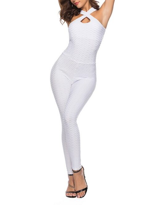 Halter Jumpsuit For Women - White