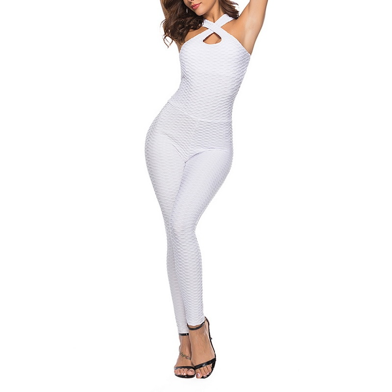 Halter Jumpsuit For Women - White