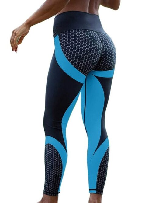 Elastic Slim Pattern Print Leggings For Women