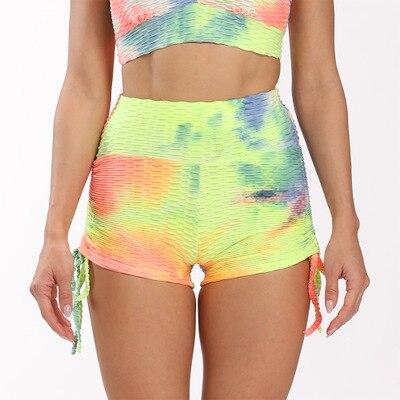 Female Anti Cellulite Ribbon Printed Shorts
