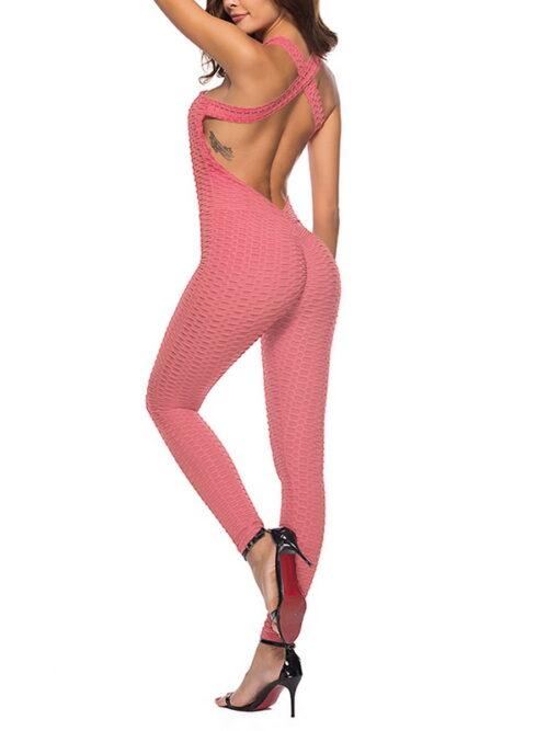 Halter Jumpsuit For Women - Pink