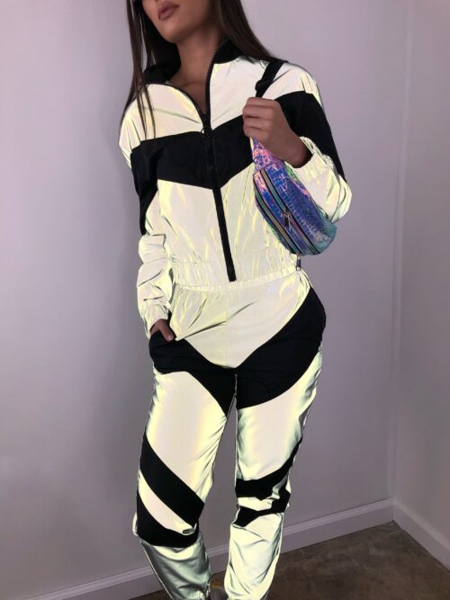 Women's Two-Piece Activewear Sets | Loose Glow Windbreaker & Trousers