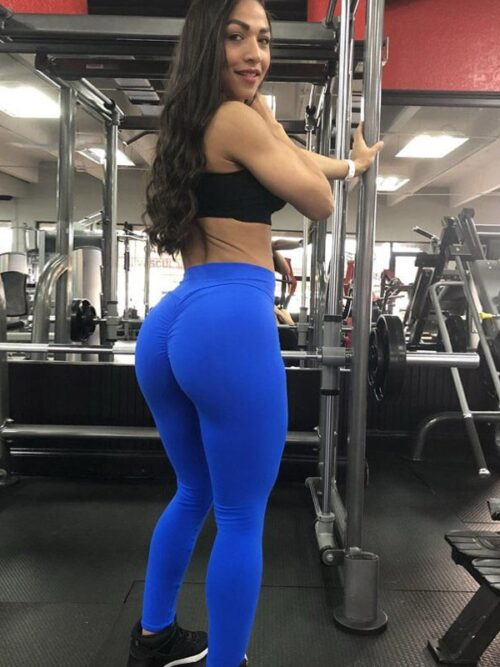 High Waist Elastic Workout Booty Scrunch Leggings