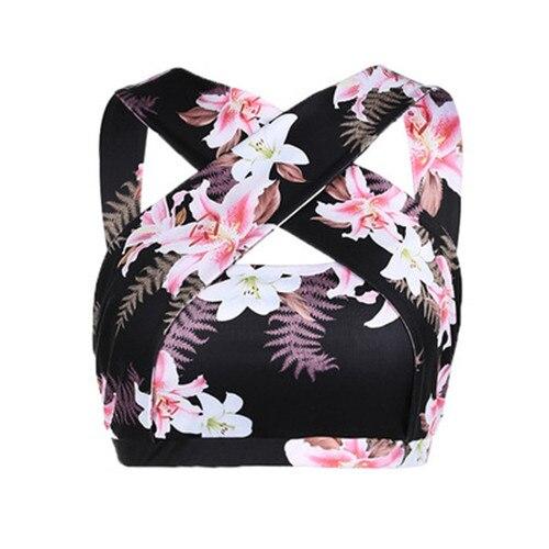 Women's Floral Print Activewear Workout Bra