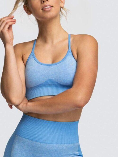 Woman Gym Push Up Seamless Leggings