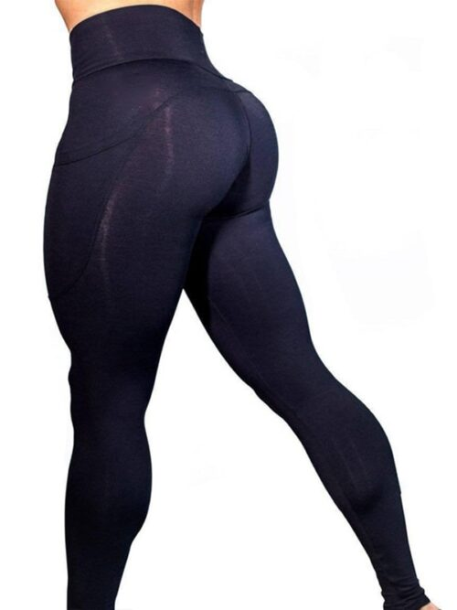 Women High Waist Tummy Control Leggings With Pocket