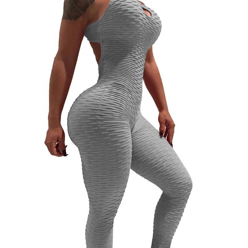 Halter Jumpsuit For Women - Gray
