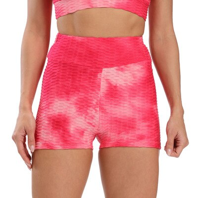 Anti Cellulite Butt Lift Patterned Yoga Shorts