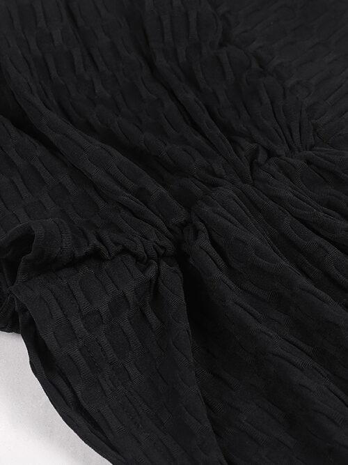 Sexy Solid Scrunch Butt Short Shorts - Black