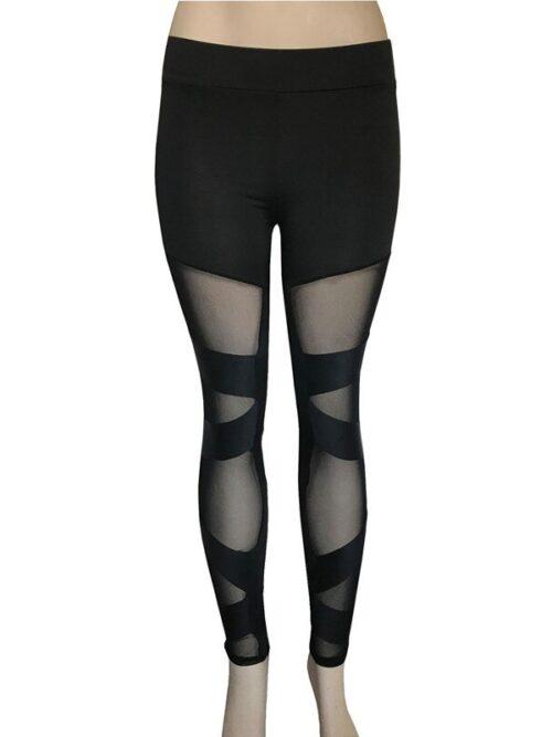 Women Classic Mesh Gothic Black Leggings