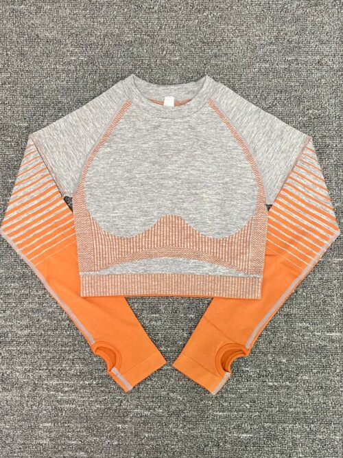 Seamless Long Sleeve Gym Top For Women