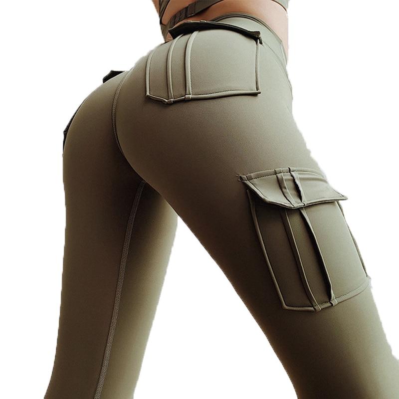 Women's High Waist Push Up Pocket Leggings